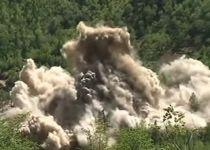 צפו: צפון קוריאה 'משמידה' את אתר הגרעין שלה