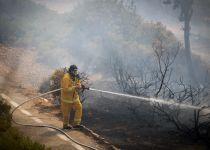 שריפה משתוללת בליפתא בכניסה לעיר ירושלים