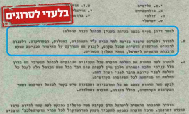 מכתבים נדירים: עמדת הרב ישראלי על עליה להר הבית