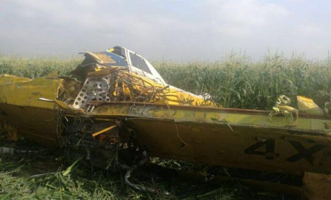 מטוס קל התרסק בשטח חקלאי בצפון