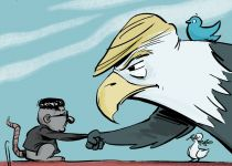 קריקטורה: פגישת טראמפ וקים ג'ונג און