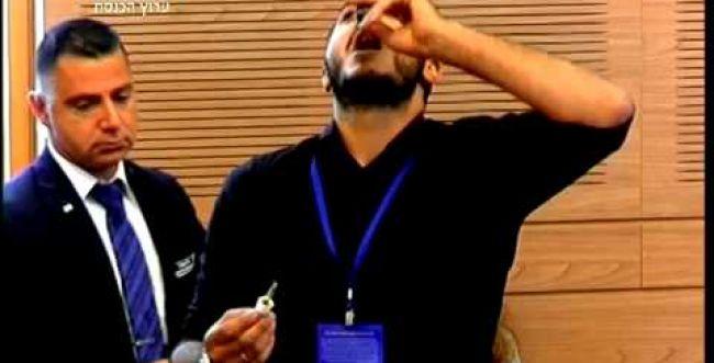 הזוי: שתה שמן קנאביס בכנסת ועורר מהומה. צפו