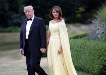 בגלל השמלה: מלניה הפכה את הנשיא טראמפ לבדיחה