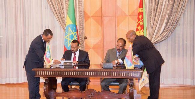 נחתם הסכם שלום בין אתיופיה ואריתריאה