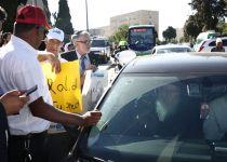 מחאת המשגיחים: חסמו את רכבו של ליצמן. צפו