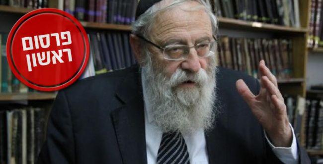 """אחרי הרב הראשי- גם הרב שטרן תומך:  """"כל מי שיכול לסייע- יבורך"""""""
