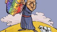 """ויראלי קריקטורה: ריבלין מתנגד לחוק הלאום ותומך בלהט""""ב"""