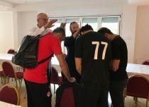 ברכת כהן לשחקני הפועל באר שבע לפני המשחק