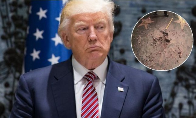 הכוכב של טראמפ בשדרת הכוכבים- נהרס