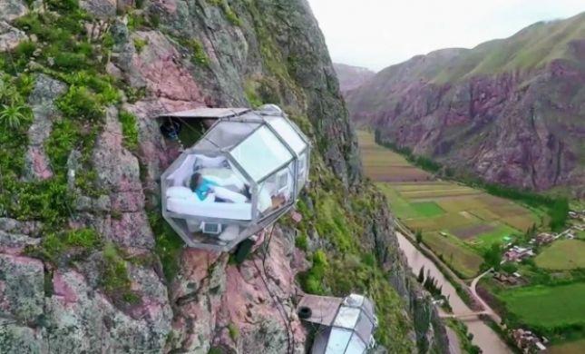 מיטה באוויר ומלון כלב; צפו: אלו המלונות המוזרים בעולם