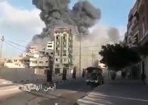 """תיעוד: צה""""ל הפציץ בניין רב קומות בעזה"""