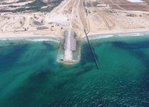 תיעוד: נחשף המכשול הימי שישראל בונה בגבול עזה