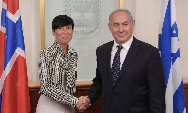 נתניהו נפגש עם שרת החוץ של נורבגיה