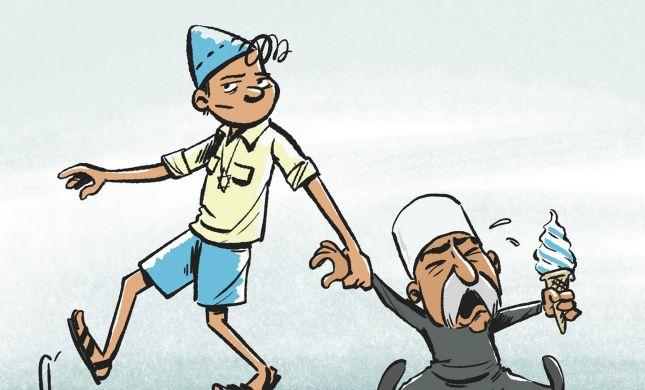 קריקטורה: מחאת הדרוזים נגד חוק הלאום