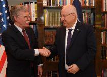 """בולטון לנשיא: """"אלו זמנים מאתגרים לארה""""ב וישראל"""""""