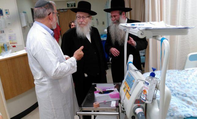 ליצמן ביקר את הרב הלפרין. התפללו לרפואתו