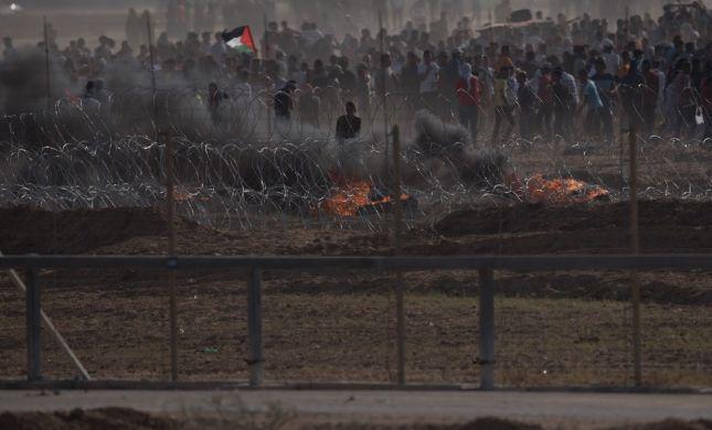 אלימות קשה בעזה: 100 מטענים ורימוני נפץ הושלכו
