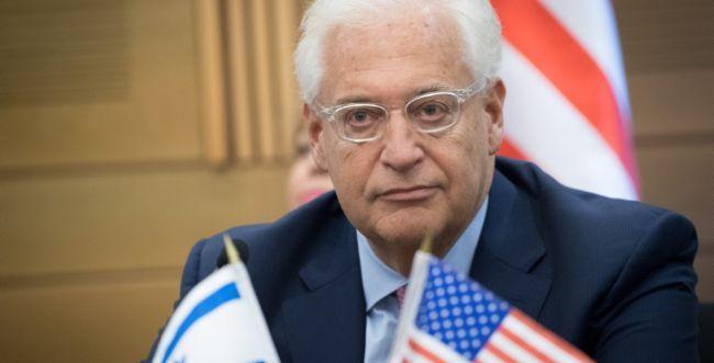 """שגריר ארה""""ב חושף: נקבע תאריך להצגת תכנית השלום"""