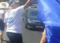 צפו: שיירת ראש הממשלה נחסמה בכניסה לירושלים