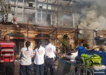 אסון ביפו: שני הרוגים בשריפה שפרצה בחנות