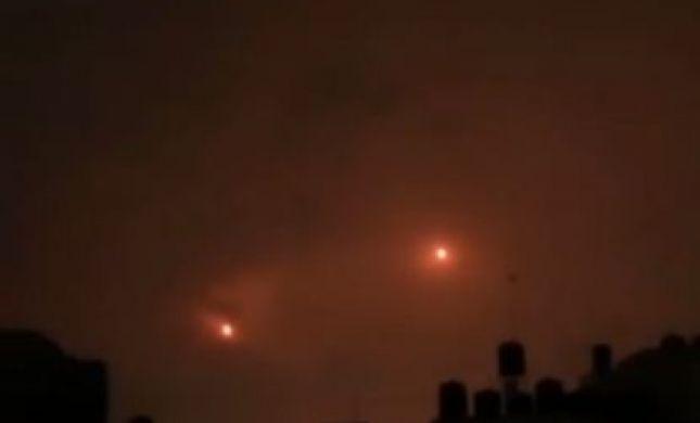 צפו: רגע שיגור הטילים מעזה לבאר שבע וגוש דן
