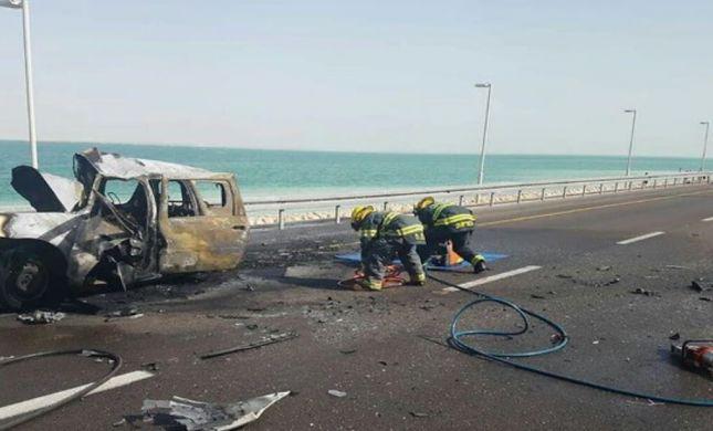 רגע לפני שיחזור התאונה: הנהג הפוגע התמוטט