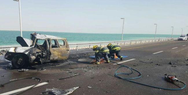 אסון בכביש 90: הרכב עלה באש, 8 נוסעים נהרגו
