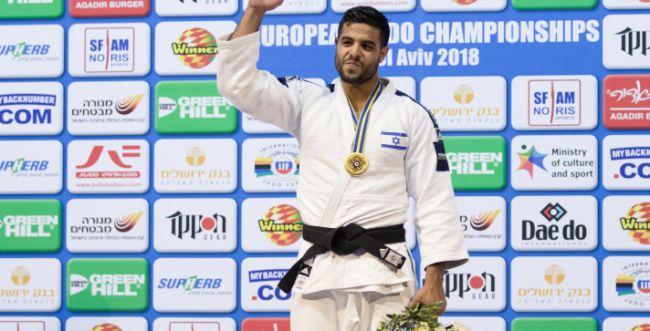 כבוד: שגיא מוקי זכה במדליית זהב בג'ודו