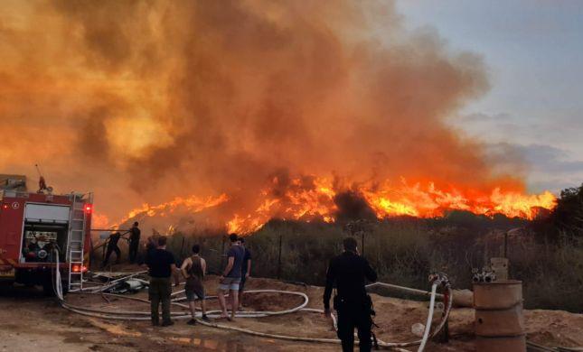 תיעוד: השריפה הגדולה ביותר בגלל טרור הבלונים