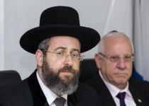 הרב הראשי לישראל נגד אריה דרעי