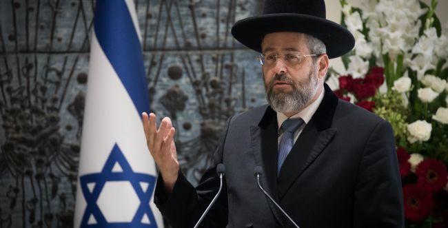 הרב הראשי דוד לאו מונה לנשיא בית הדין לגיור
