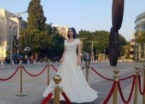פסל של מירי רגב הוצב בכיכר 'הבימה' בתל אביב