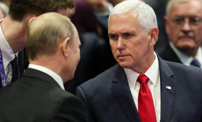 """בדרך לחיזוק היחסים: פוטין נפגש עם סגן נשיא ארה""""ב"""