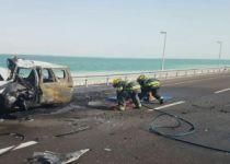 בפעם השנייה היום: ארבעה פצועים בתאונה בכביש 90