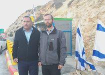 """ראש עיריית שדרות בביקור בגבעת אסף: """"אנחנו אתכם"""""""