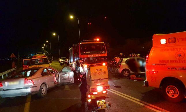 """לוחם צה""""ל נפצע באורח אנוש בתאונת דרכים"""