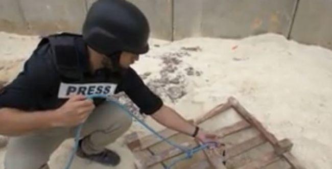 צפו: רשת CNN תיעדה את מנהרת הטרור בגבול ישראל