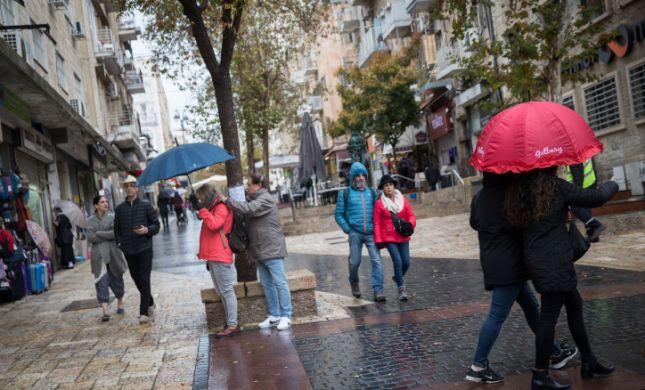 שבת חורפית:  שיא גשם של 17 שנה באיזור המרכז
