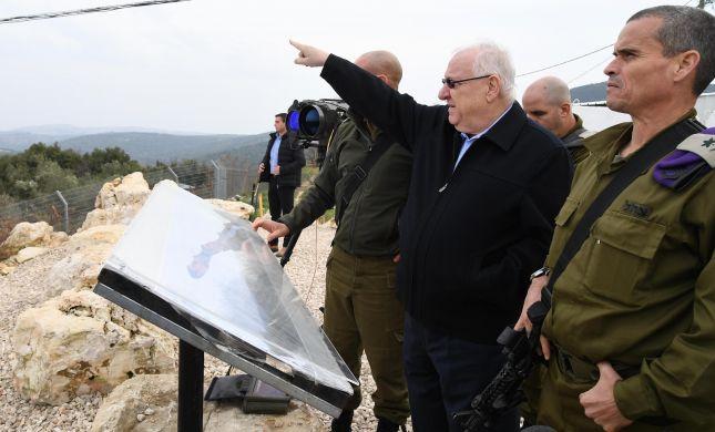 """ריבלין בגבול: """"חיזבאללה יביא לחורבן של לבנון"""""""