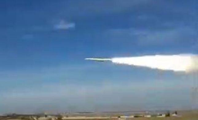 """צפו: רגע שיגור טיל הנ""""מ לעבר המטרה הישראלית"""