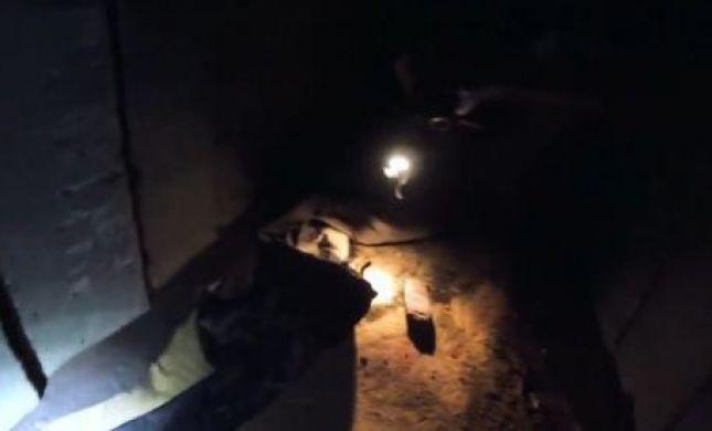 צפו: המרדף במנהרה אחרי חוטפי הדר גולדין