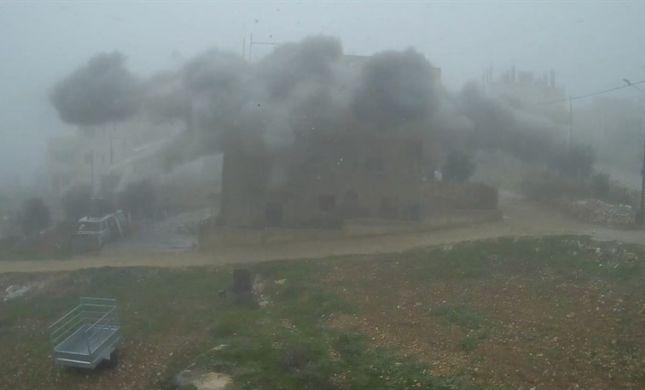 """צפו: צה""""ל פוצץ את בית המחבל שרצח את ארי פולד"""