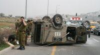 חדשות, חדשות צבא ובטחון, מבזקים שני חיילים נפצעו בהתהפכות רכב צבאי בדרום