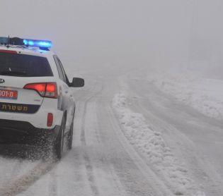 """שו""""ת מידע מציל חיים: מה עושים כשיש שלג על הכביש"""