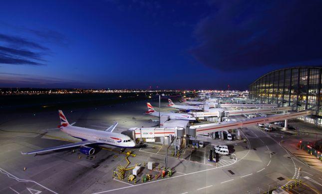 שוב: נמל התעופה בלונדון הושבת בעקבות רחפן חשוד
