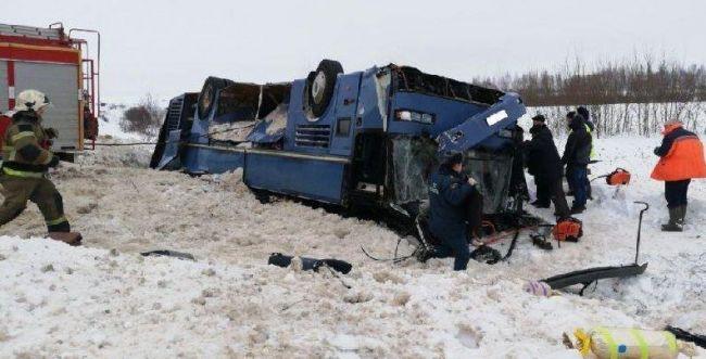 אסון ברוסיה: 7 הרוגים בהתהפכות אוטובוס