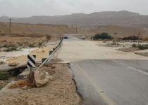 שיטפונות במדבר יהודה: ציר המלונות בעין גדי נחסם