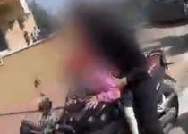 סכנת חיים: נתפס מרכיב את בתו בת ה-4 על אופנוע