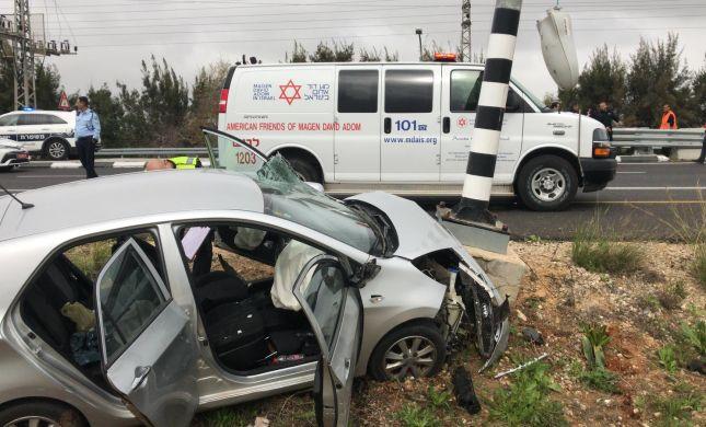 תאונה קשה בכביש 90: פעוט בן 3 במצב קשה מאוד