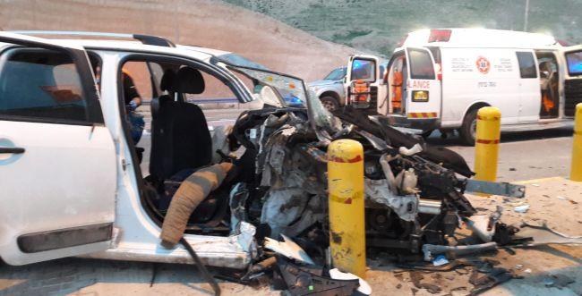 5 פצועים בתאונה קשה ליד מצפה יריחו